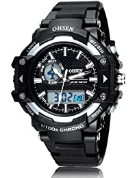 OHSEN Hot Sale Fashion Brand OHSEN LED Mens Sports Watches Digital Watch Men Man Alarm Date Day Stopwatch Rubber... - B077S1Z52S