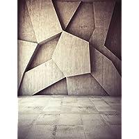 Grigio pietra da parete fondali fotografia digitale stampato geometrico figura vintage Floor photo booth studio fondali retro 1,5x
