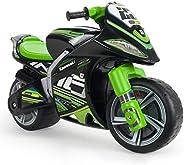 INJUSA - Moto Primi Passi Winner Kawasaki XL Senza Batteria Raccomandato per Bambini +3 Anni con Ruote Larghe