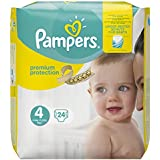 Pampers Premium Protection Taille 4 Maxi 8–16 kg Porter Pack, 24 couches  (4 x 24 pièces)