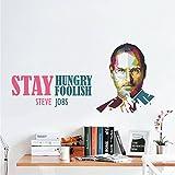 Rawpockets 'Steve Jobs - Stay Hungry Stay Foolish ' Wall Sticker (PVC Vinyl, 110 cm x 55cm)