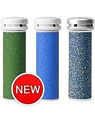 Emjoi Micro-Pedi Appareil compatible Recharge rouleaux–(Extra, Super et Xtreme épais)–Lot de 3