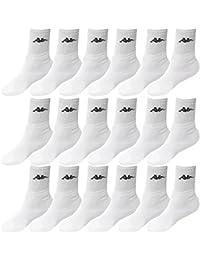 9 Pares de Calcetines Kappa Color Blanco Tamaño 39 – 42 – Calcetines de tenis Calcetines Medias de trabajo Señor Calcetines Calcetines