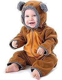 Neugeborenes Baby Karton Kigurumi Tier Schlafanzug Strampler warm Nachtwäsche GS
