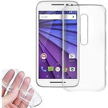 Donkeyphone UT0158 - Funda gel para Motorola Moto G 3 Generación / Moto G3 (silicona ultra fina) transparente