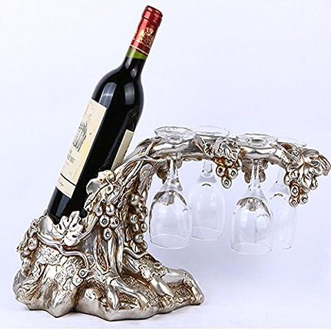 DZXYA Continental placcatura di resina soggiorno, rack di vino