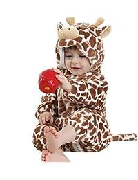 Jiajia - Pelele unisex para bebé, cálido, de franela, disfraz de animal