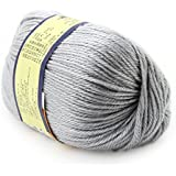 Grey : Baby Yarn Handcraft Worsted 50G Sweater Wool Knitted Soft Knitting Warm