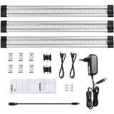 LEDGLE Lot de 3 Lampe de Cabinet 950lm Lampe de Placard Eclairage pour Armoire / Placard / Escalier / Couloir 6000K-Lumière Blanche