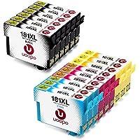 Uoopo 18 18XL Multipack Cartucce Compatibile per Cartucce Epson T1811 T1812 T1813 T1814 per Epson Expression Home XP-215 XP-322 XP-422 XP-225 XP-405 XP-415 XP-425 (6 Nero,3 Ciano,3 Magenta,3 Giallo)