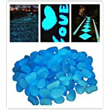 Leuchtsteine StillCool 100 Stueck künstliche Kieselstein leuchtende Kiesel Aquarium Floureszierende Pebbles Stein Garten Gehweg