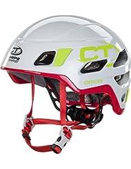 Climbing Technology Orion Helmet Light Grey/Red 2016-Casco de escalada, primavera/verano, color blanco - blanco, tamaño S/M (50-60 cm)
