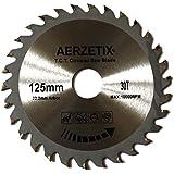 AERZETIX - Disque scie à bois 125/22,2mm T30 30 dents pour meuleuse tronçonneuse disqueuse