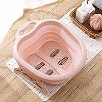 easybuy - Cubo de Espuma para bañera y bañera de hidromasaje, con Forma de Barril de Goma portátil para Accesorios del hogar (Color Rosa), Rosa, 40x50x22cm