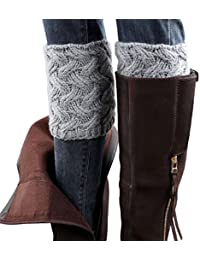 ZARU 1 par Las mujeres del invierno de la aguja calentadores de la pierna Calcetines párrafo