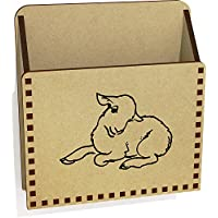 Azeeda 'Cute Lamb' Wooden Letter Holder/Box (LH00033836)
