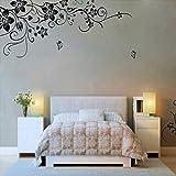 FAMILIZO Hee Gran Vinilo Removible Etiqueta De La Pared Mural De La Etiqueta Del Arte - Flores Y Vine Decoración