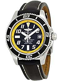 Breitling Superocean 42Noir et Jaune Cadran Montre pour homme en cuir noir a1736402-ba32bkld