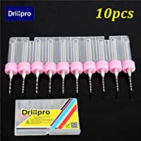 Drillpro 10PCS 1.0millimetri carburo fresa tungsteno Steel Blade