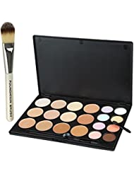 Make-up Concealer - SODIAL(R)20 Farbe Concealer Tarnung Verfassungs-Palette und Pinsel Foundation # 12