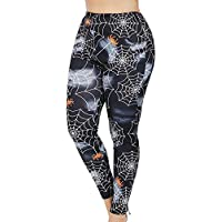 Pantalón Chandal Mujer Impresión de Tela de araña Talla Grande,Mallas Pantalones Yoga Mujeres Deportivos de Cintura Alta para Mujeres Running Fitness Leggings Ropa de Ejercicio Gusspower
