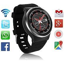 3g teléfono del smartwatch con gps wifi monitor del ritmo cardíaco del podómetro cámara de 5.0mp rc para androide 5.1 , black