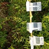 100 st växter ympning stödklämmor plast trädgård ympning klämmor för tomat grönsaker blomma stam anslutning