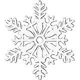 Amscan, Decorazione natalizia a forma di fiocco di neve, con brillantini, 10.16 x 10.16 cm, colore: Bianco