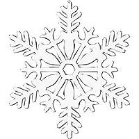 Amscan Glitter Snowflake Hanging Decoration, White