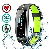 LATEC Fitness Armband mit Pulsmesser, IP68 Wasserdicht Fitness Tracker Farbbildschirm Aktivitätstracker Pulsuhren Schrittzähler