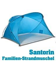 outdoorer tienda de playa familiar Santorin, UV 60 protección solar; pack ligero