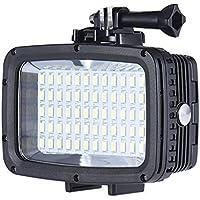 Andoer Ultra Bright 1800LM 3 Modi Wasserdicht Unterwasser 40m 5500K 60pcs LED Tauchen Fill-in Light Video-Studio-Foto-Lampe für GoPro Xiaomi Yi SJCAM Action Cam&für DSLR-Kamera+3 * Filter