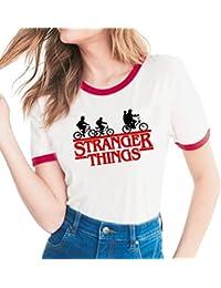 Yuanu Amantes Spring Verano Tamaño Grande Manga Corta Cuello Redondo Camiseta, Suave Cómodo Slim T
