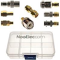 NooElec Kit de connectivité Adaptateur SMA - Ensemble DE 8 adaptateurs pour NESDR Smart (RTL-SDR) et Autres Radios Définies par Logiciel SMA avec Porte Portables