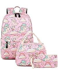 Preisvergleich für Abshoo, Kinder Kinderrucksack Pink Unicorn Pink Set G3 Einheitsgröße