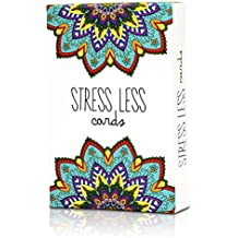Stress Less Cards - 50 Inspirational Mindfulness & Meditation Exercises   Helps Relieve Stress, Anxiety   Natural Relaxation, Insomnia & Sleep Aid
