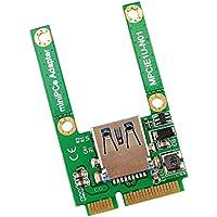 MagiDeal Adaptador de Lector de Tarjeta Mini PCI-E to USB 2,0 USB WiFi Bluetooth MPU01