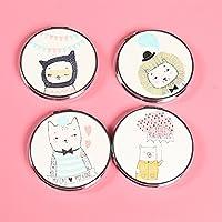 Preisvergleich für Baby-lustiges Spielzeug Adorable Doppelseitige Metall Runde Form Mode Schwein Design Kompakte Taschenformat Spiegel Zufällige Farbe