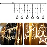 Rrimin Star Curtain LED String Light (Warm White)