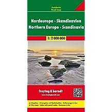 Nordeuropa - Skandinavien, Autokarte 1:2 Mio., freytag & berndt Auto+Freizeitkarten: Wegenkaart 1:2 000 000