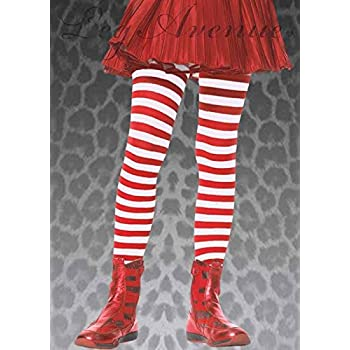 Sancto International Childrens Rouge et des Collants à Rayures Blanches  Small (4-6 Years) 217d32de4ed