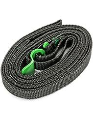 boldion (TM) caliente nueva marca 2,5m Classic práctico correas elásticas para equipaje de viaje Ajustable Correa viaje Equipaje Maleta correa 250cm, verde