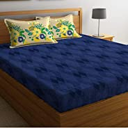 Portico Marvella Fitted King Bedsheet Set, Printed, Blue, 182x198x20cm, 8045171