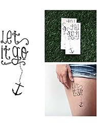 Tattify Tatouages Temporaires Let It Go - Littoral (Set de 2)