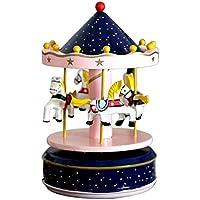 Beetest® Classic Giostra Carillon con il Castello nel Cielo Melodia / Carosello Musicali Scatola Box Bambini Natale Vacanza Giocattoli Compleanno Regalo, Tipo B