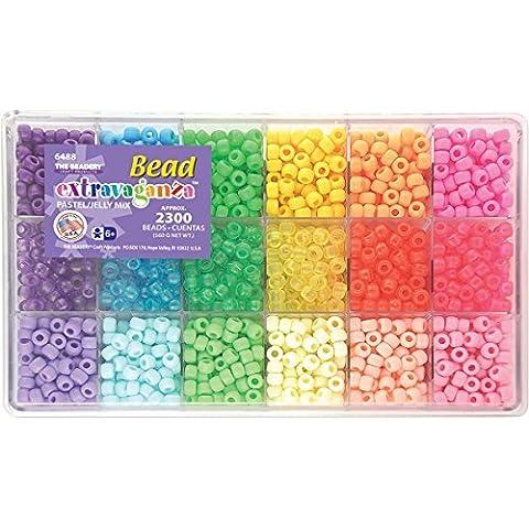 Beadery Bead Extravaganza Bead Box Kit, 19.75-Ounce, Pastel and Jelly by Beadery - Extravaganza Box