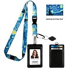 4da8c584c2 Vincent Van Gogh the Starry Night Print Lanyard con portafoglio porta badge  in pelle PU con