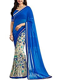 Maiya Saree Women's Designer Georgette Saree With Blouse Piece
