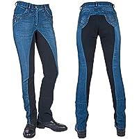 HKM Jodhpur Classic-1/1 Alos 6969 - Pantalón de equitación para Adultos, Color Azul Oscuro y Azul Oscuro, Talla 38
