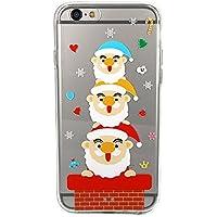 TrendyBox - Custodia per Iphone 6 / 6S Plus, motivo cartone animato, con protezione per lo schermo in vetro temperato, PLASTICA, Santa Claus, iPhone 6/6S Plus